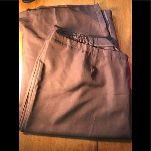 Flat front brown dress pants